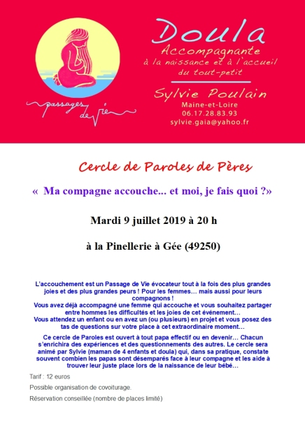 Affiche Cercle de Paroles de Pères